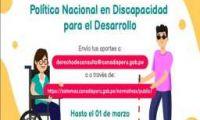 Llevarán a cabo consulta en todo el Perú sobre política nacional con población con discapacidad