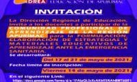 convocatoria para participar en la Comunidad Profesional de Aprendizaje de docentes de la región Apurímac
