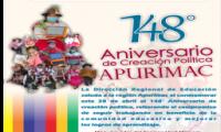 DRE Apurímac 2021 - Saludo por el 148° aniversario APURÍMAC