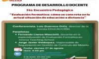 5to Encuentro Pedagógico - PROGRAMA DE DESARROLLO DOCENTE