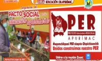 LANZAMIENTO PROYECTO EDUCATIVO REGIONAL APURÍMAC 2021 PACTO SOCIAL POR LA EDUCACIÓN APURIMEÑA