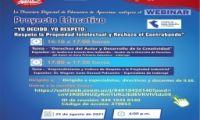 """WEBINAR - Proyecto Educativo: """"YO DECIDO, YO RESPETO: Respeto la Propiedad Intelectual y Rechazo el Contrabando"""""""