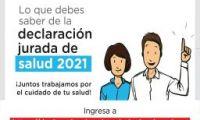 declaración jurada de salud - información sobre la salud y las condiciones laborales del personal que labora en las instituciones educativas públicas