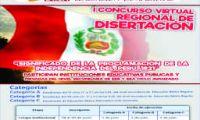 DRE Apurímac convocatoria a I CONCURSO VIRTUAL REGIONAL DE DISERTACIÓN