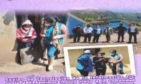 visita a la comunidad de Cayhuachahua, distrito de Lucre, UGEL Aymaraes, para verificar uso pertinente de las tablets del MINEDU.