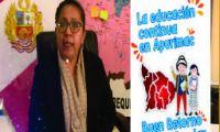MENSAJE POR EL BUEN RETORNO AL AÑO ESCOLAR 2021 - Mag. Lourdes del Carmen Vigil Mamani