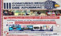 """III CONCURSO REGIONAL DE BUENAS PRÁCTICAS DOCENTES DRE APURÍMAC 2021 """"ENFRENTANDO DESAFÍOS EN EL BICENTENARIO"""""""