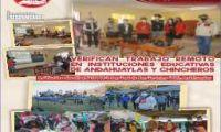 VERIFICAN TRABAJO REMOTO EN INSTITUCIONES EDUCATIVAS DE ANDAHUAYLAS Y CHINCHEROS.